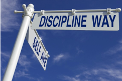 Self discipline signs