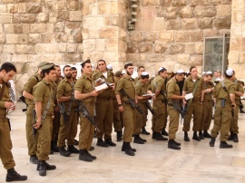IDF Soldiers at Kotel
